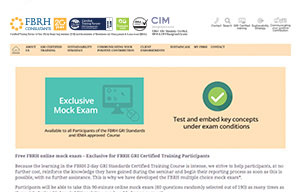FBRH exclusive mock exam button